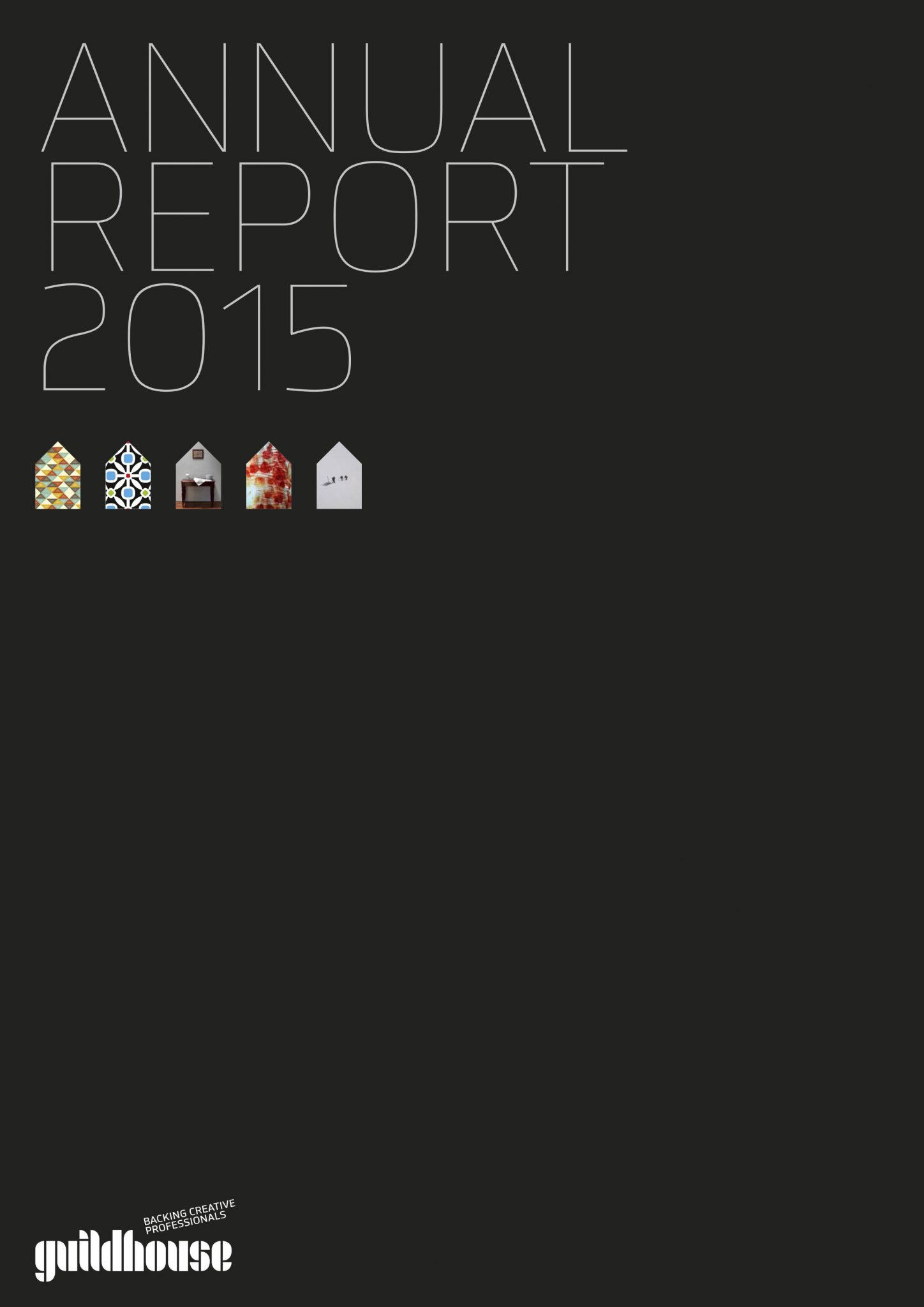 Guildhouse 2015 Annual Report front cover