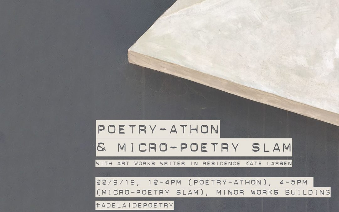 ART WORKS: Poetry-athon & Micro-Poetry Slam