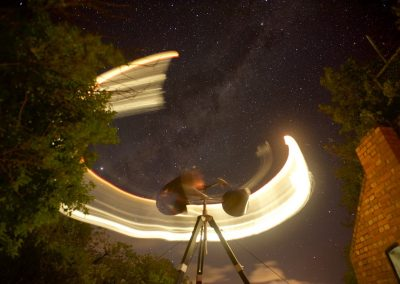 Image: Cameron Robbins, 'Stellar Wind' 2019, Winter Solstice wind/light drawing at Queenscliff, VIC